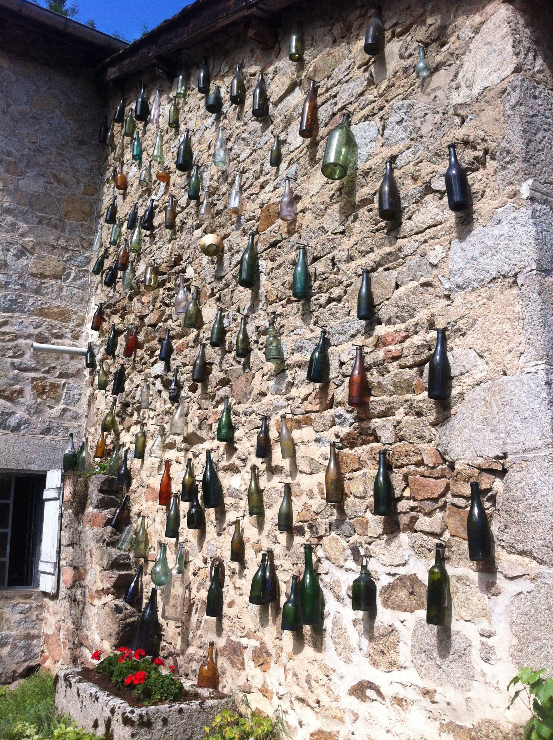 Decoration at winery Le Clair