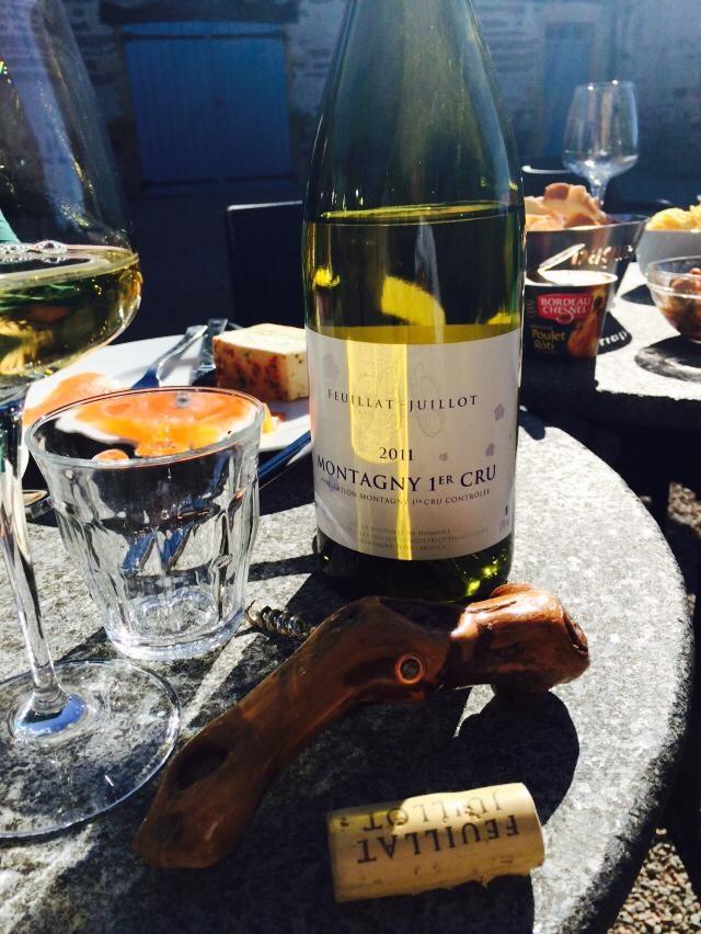 Witte wijn op vakantiehuis Les Bardons in Frankrijk