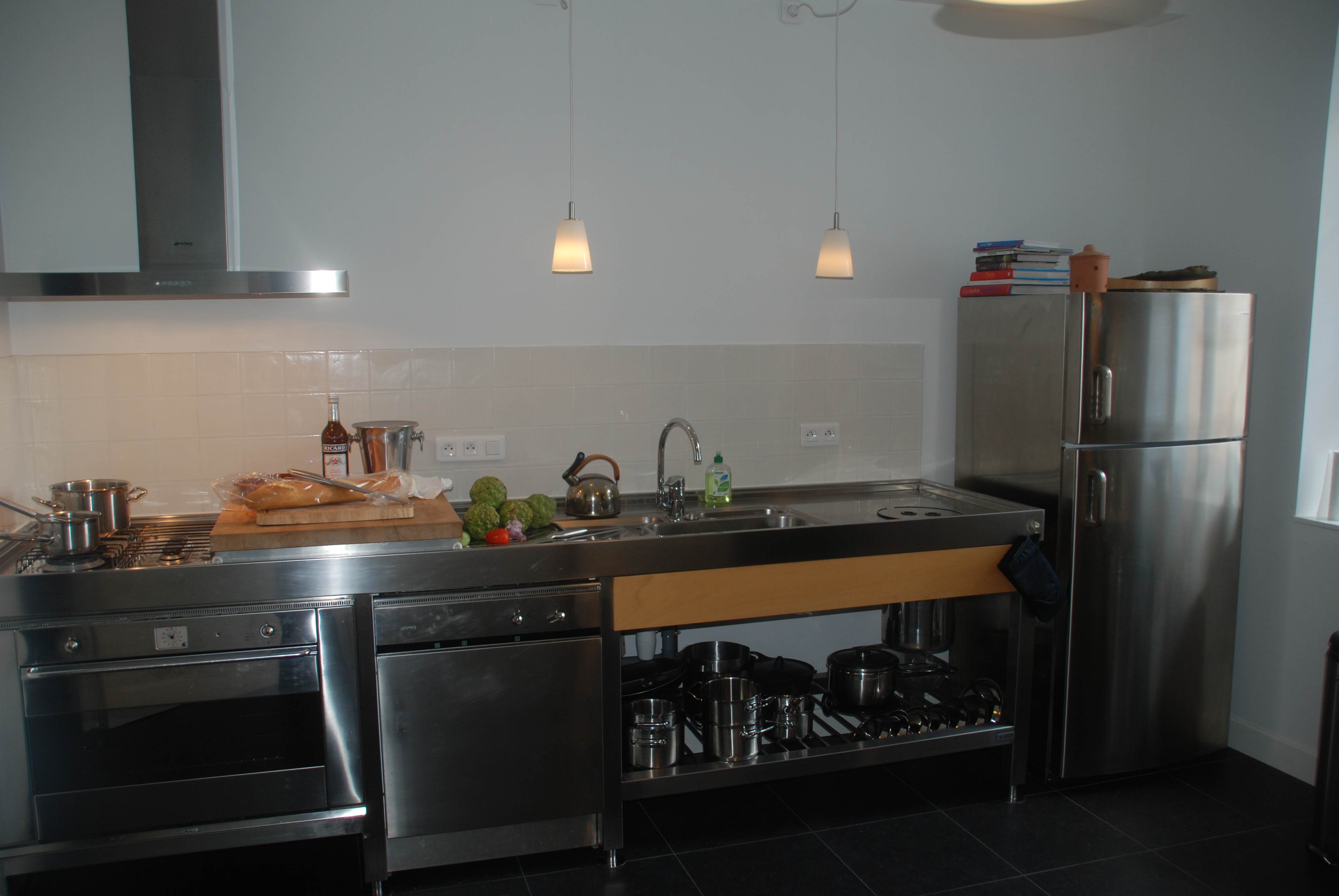 Proffesional kitchen at Chateau Les Bardons