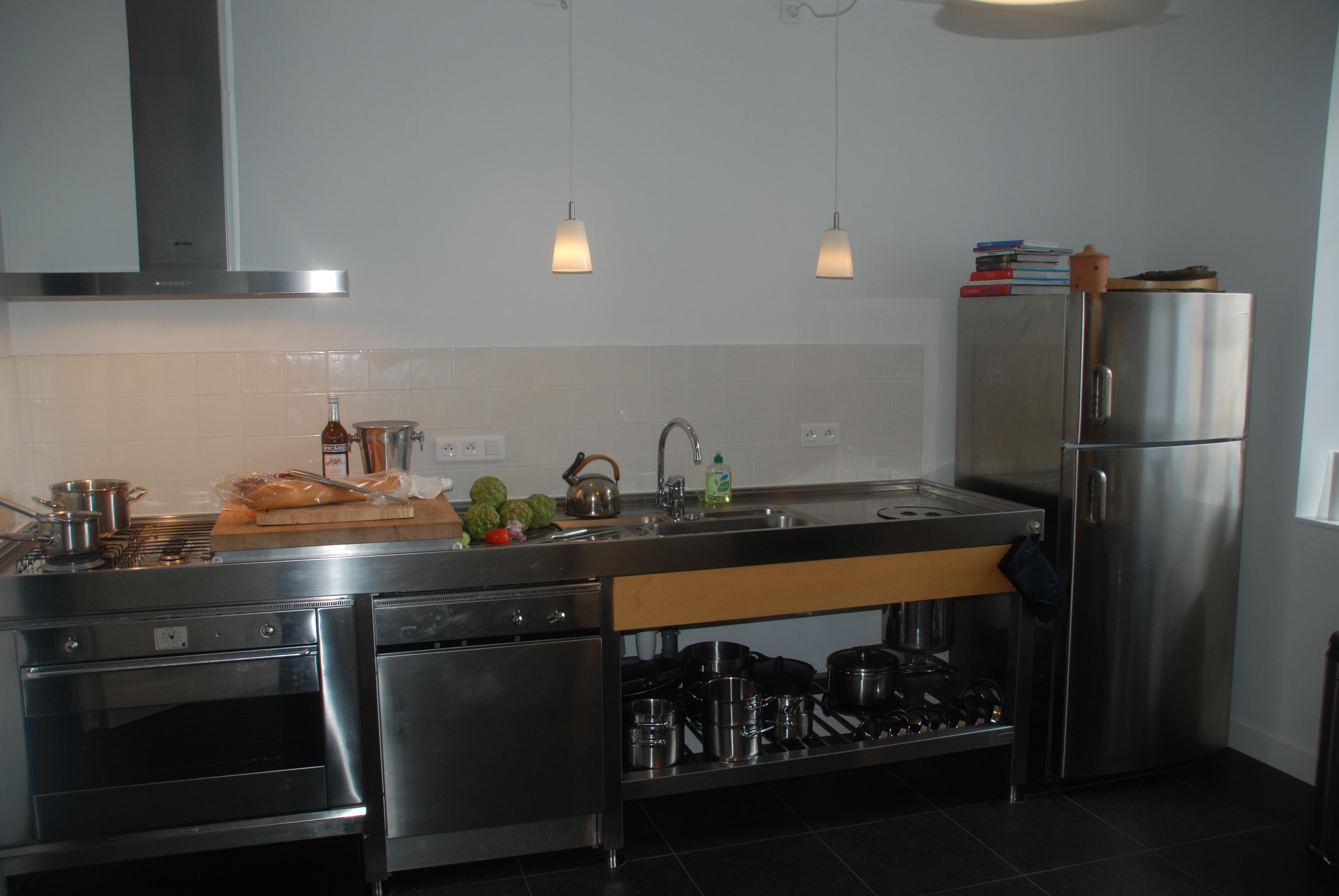 Proffesional kitchen at Chateau Les Bardons