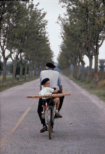Getting a pain on the bike with grandfather